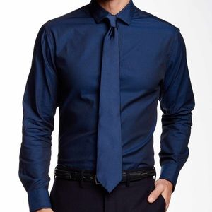 Vince Camuto Point Collar Slim Fit Sport Shirt